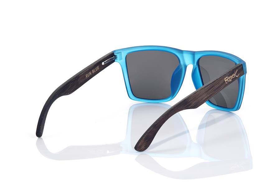 Wood eyewear of  RUN BLUE | Root Sunglasses ®