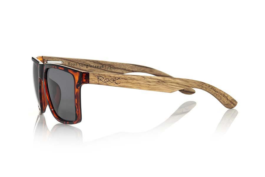 Gafas de Madera Natural de Zebrano RUN CAREY.   |  Root Sunglasses®