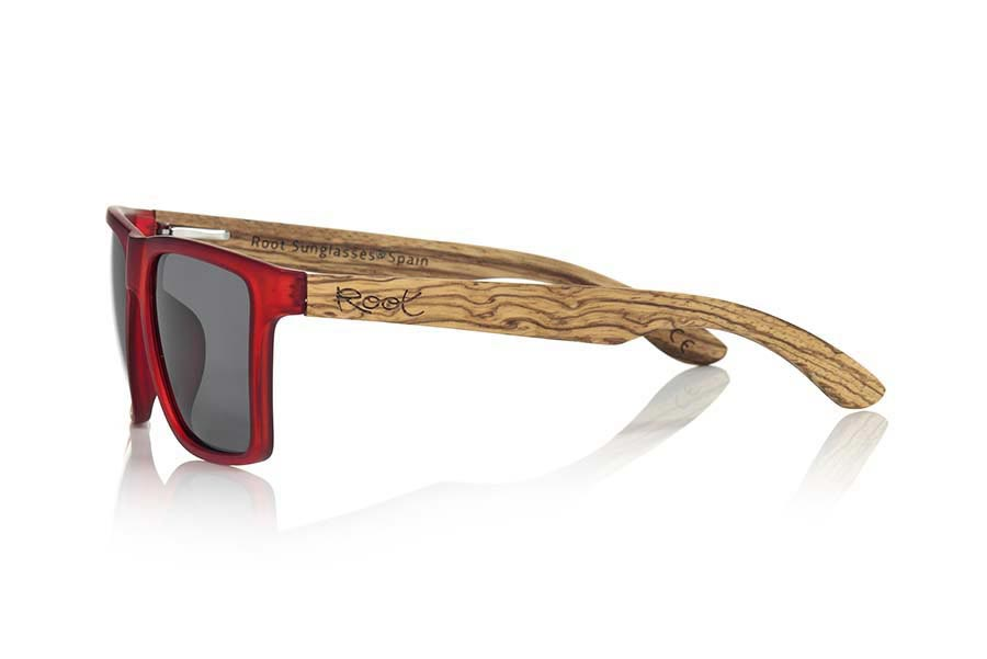 Root Wooden Sunglasses RUN RED