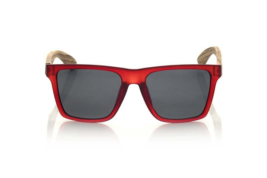 Gafas de Madera Natural de Zebrano RUN RED.   |  Root Sunglasses®
