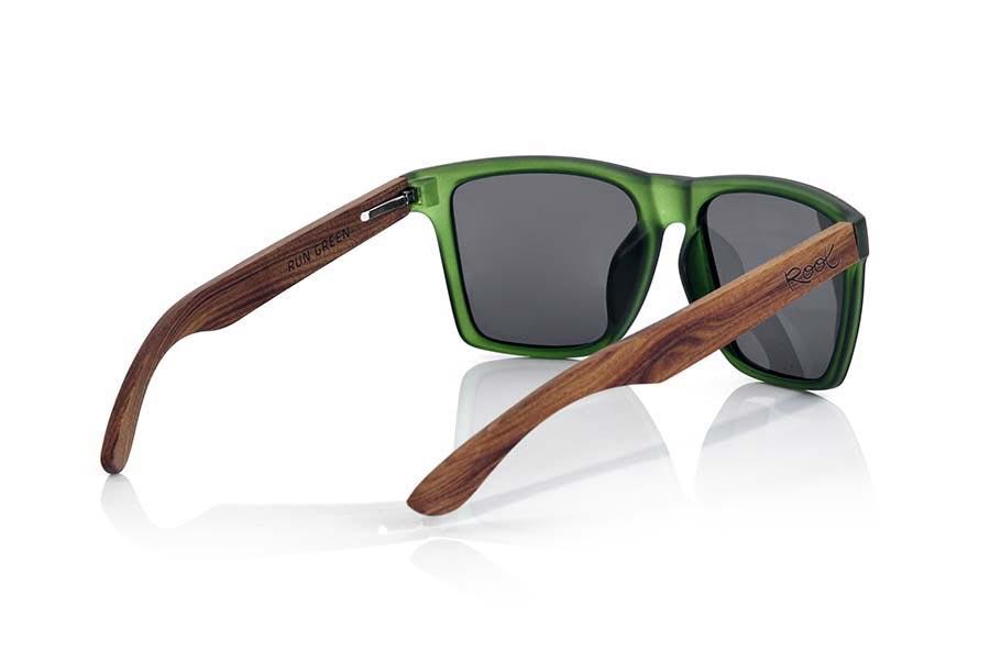 Gafas de Madera Natural de Palisandro RUN GREEN | Root Sunglasses ®