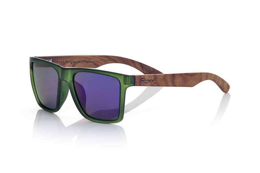 Wood eyewear of Rosewood RUN GREEN | Root Sunglasses®