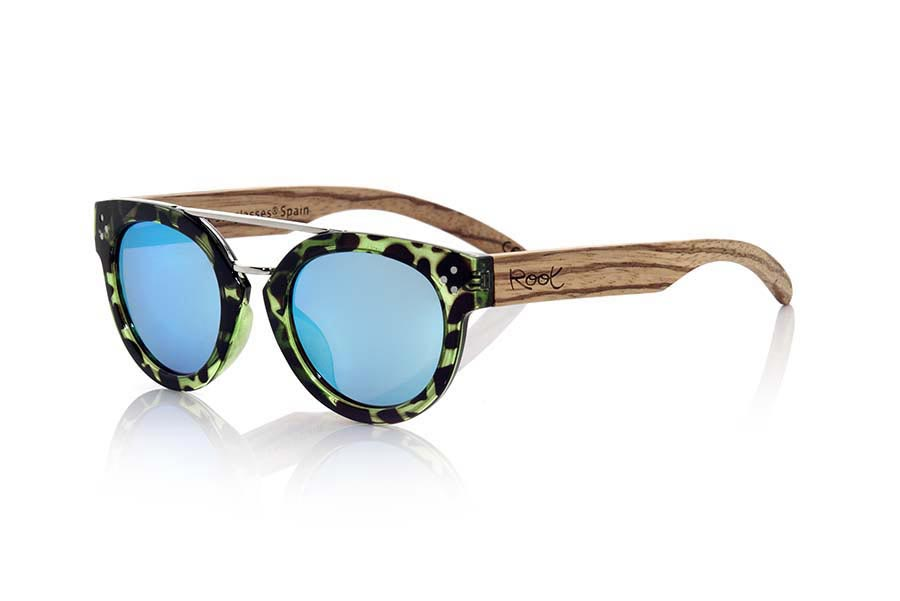 Root Wooden Sunglasses ISLAND CYAN