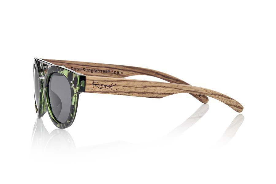 Wood eyewear of  ISLAND CYAN | Root Sunglasses®