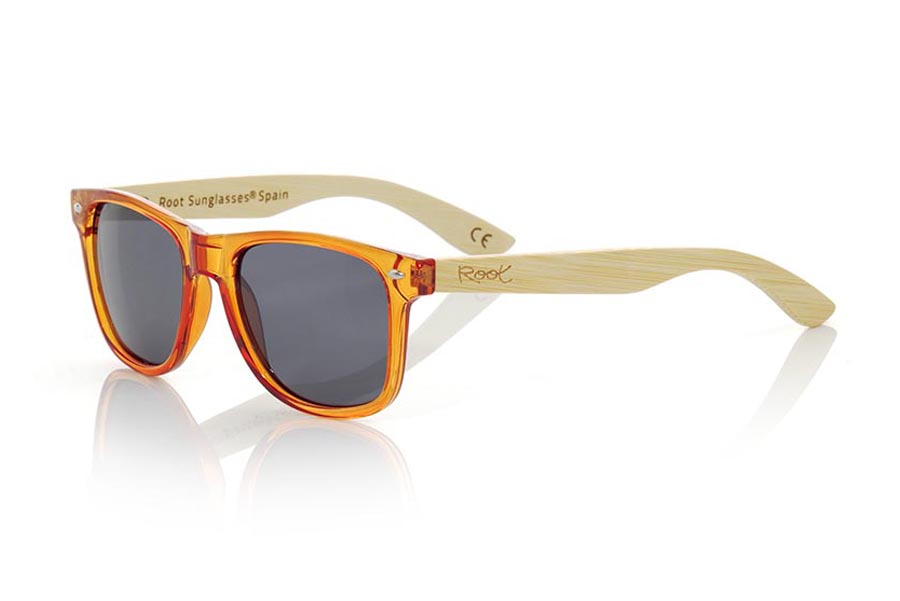 Wood eyewear of Bamboo CANDY ORANGE | Root Sunglasses®