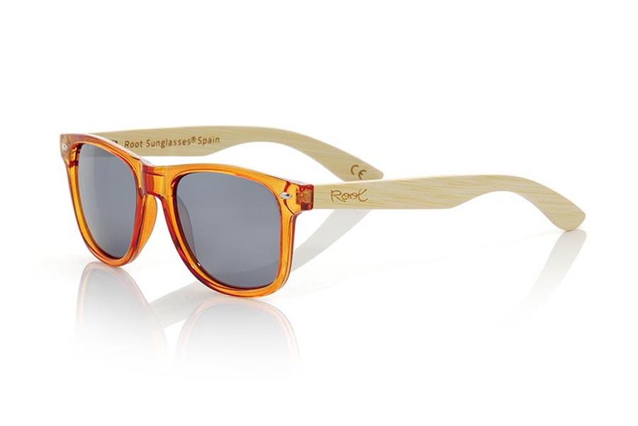 Gafas de Madera Natural de Bambú CANDY ORANGE | Root Sunglasses®