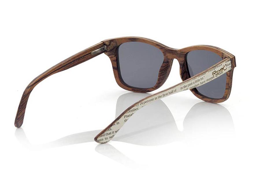 Wood eyewear of Zebra SILOLI.   |  Root Sunglasses®