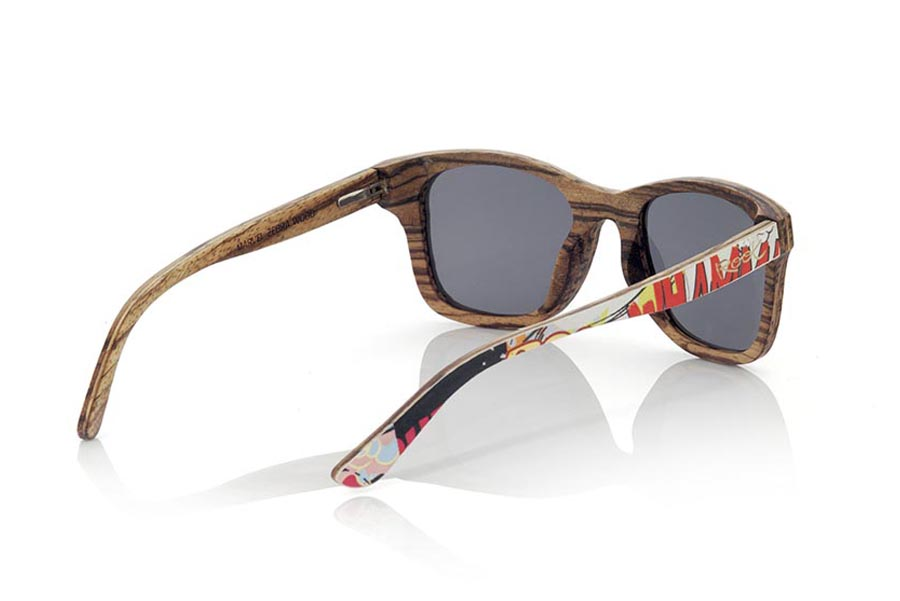Gafas de Madera Natural de Zebrano MARVEL | Root Sunglasses®