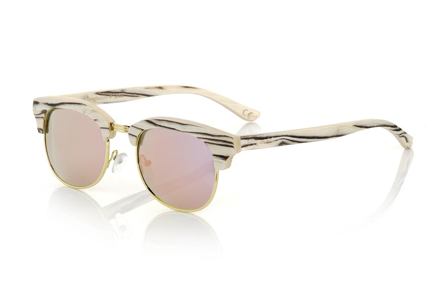 Gafas de Madera Natural de White Wood modelo HAYMAN | Root Sunglasses®