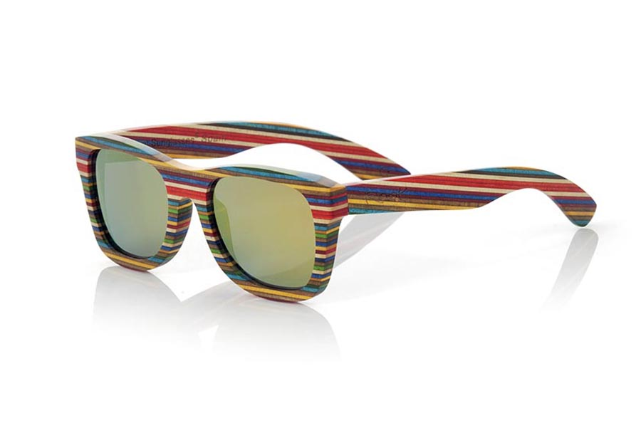 Wood eyewear of Skateboard modelo SANOOK | Root Sunglasses®