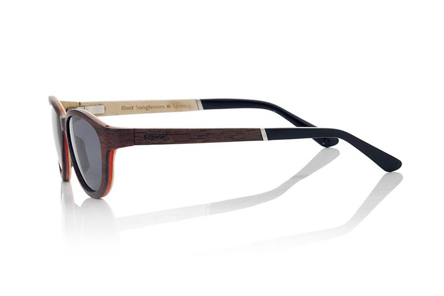 Wood eyewear of Ebony modelo MICONOS | Root Sunglasses®