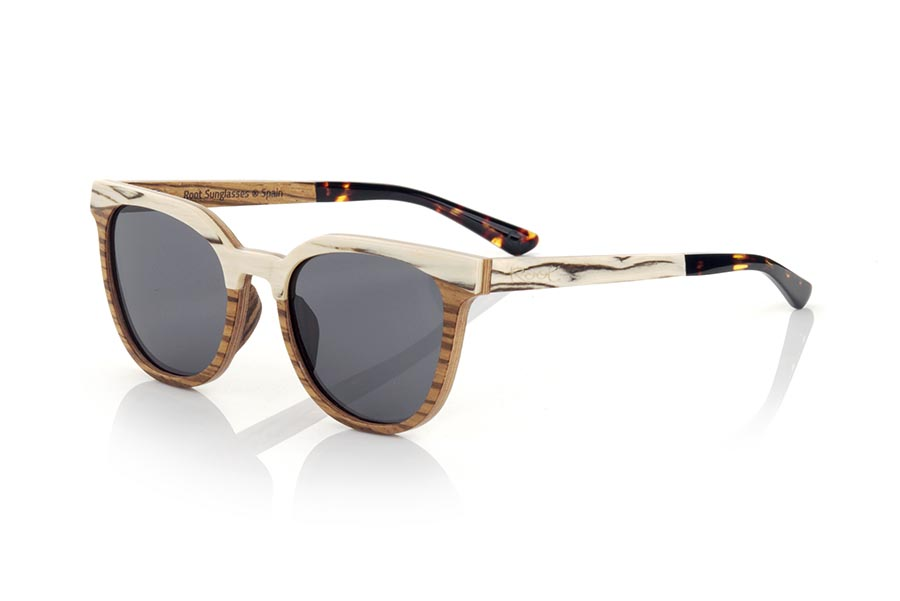Wood eyewear of zebra modelo LAURE | Root Sunglasses®