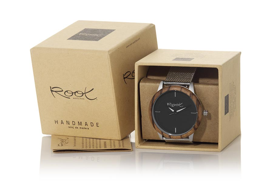 Reloj de Madera Zebrano DAND | Root® Watches