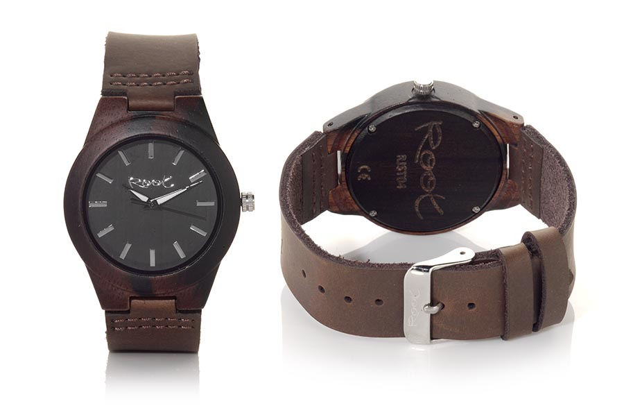 Eco Watch made of Ebony ZAMBIA...  | Root® Watches