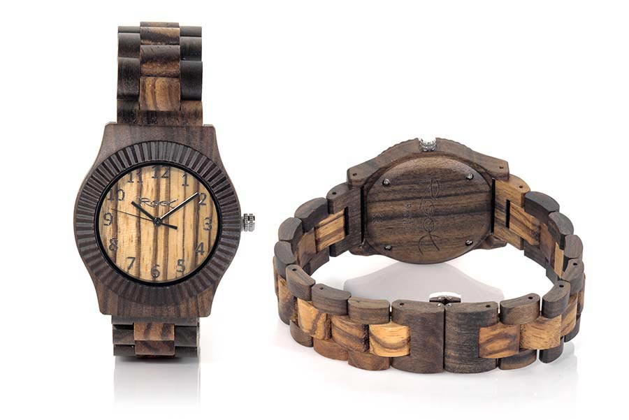 Reloj de Madera Zebrano RUMA LIGHT...  | Root® Watches