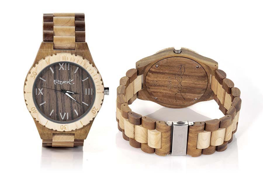 Reloj de Madera Zebrano ROMAN LIGHT...  | Root® Watches