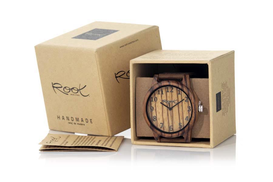 Eco Watch made of Zebrano WILD SANDED | Root® Watches