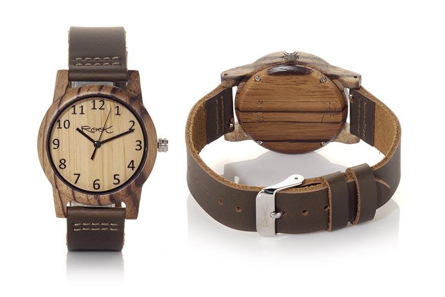 Reloj de Madera Zebrano SIMPLE TEMPO...  | Root® Watches