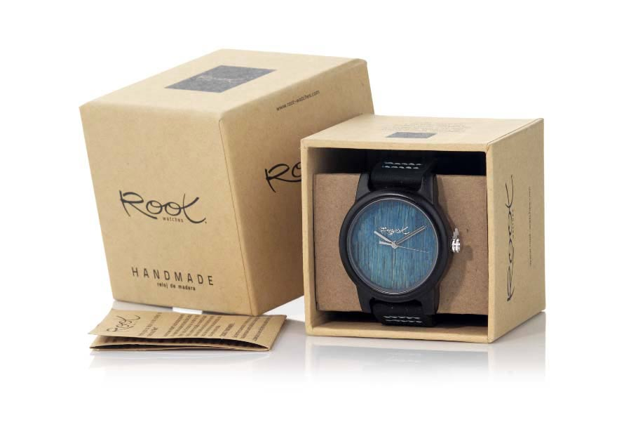 Eco Watch made of Ébano BLUE DAY | Root® Watches