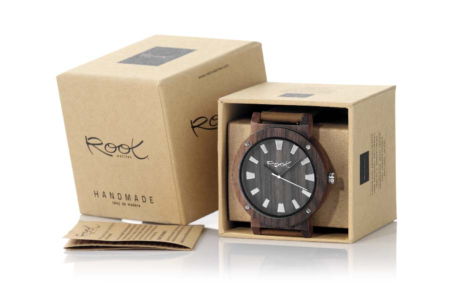 Eco Watch made of Black Walnut modelo THE COMPLEX MAN | Root® Watches