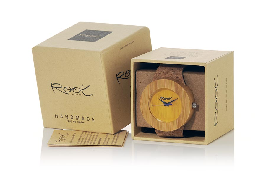Eco Watch made of Bamboo modelo EBA YELLOW | Root® Watches