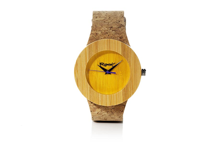 Eco Watch made of Bamboo modelo EBA YELLOW.  | Root® Watches