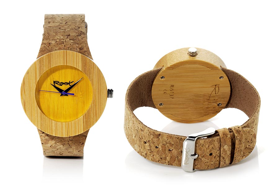 Reloj de Madera Bambú EBA YELLOW...  | Root® Watches