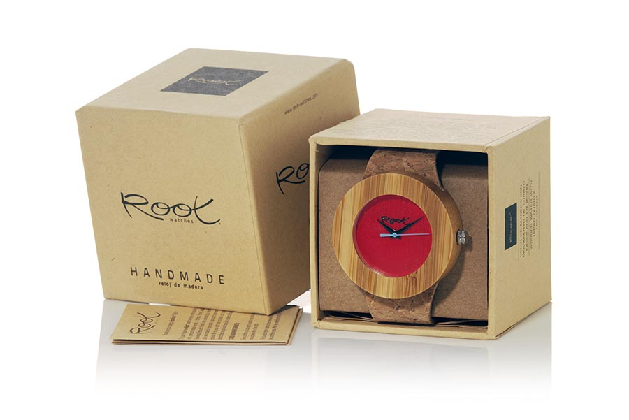 Eco Watch made of Bamboo modelo EBA RED | Root® Watches