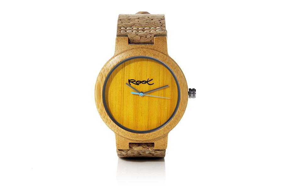 Eco Watch made of Bamboo modelo MINIMAL TIME YELLOW.  | Root® Watches