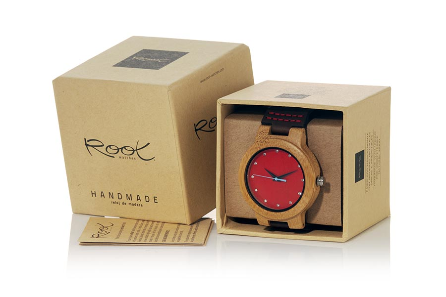 Eco Watch made of Bamboo modelo DANA RED | Root® Watches