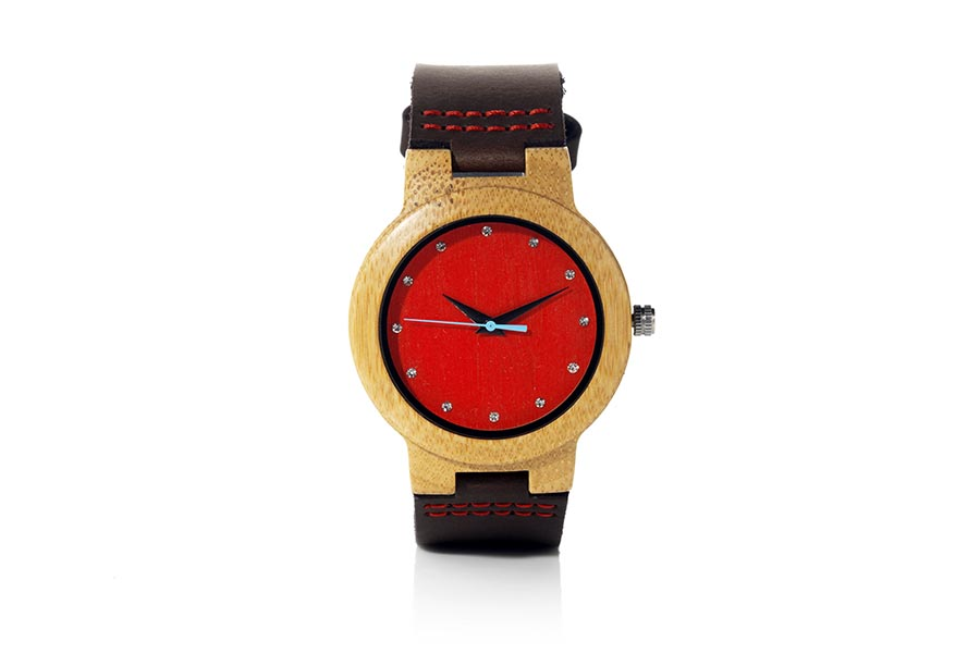 Eco Watch made of Bamboo modelo DANA RED.  | Root® Watches