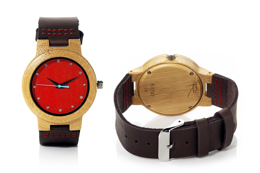 Eco Watch made of Bamboo DANA RED | Root® Watches