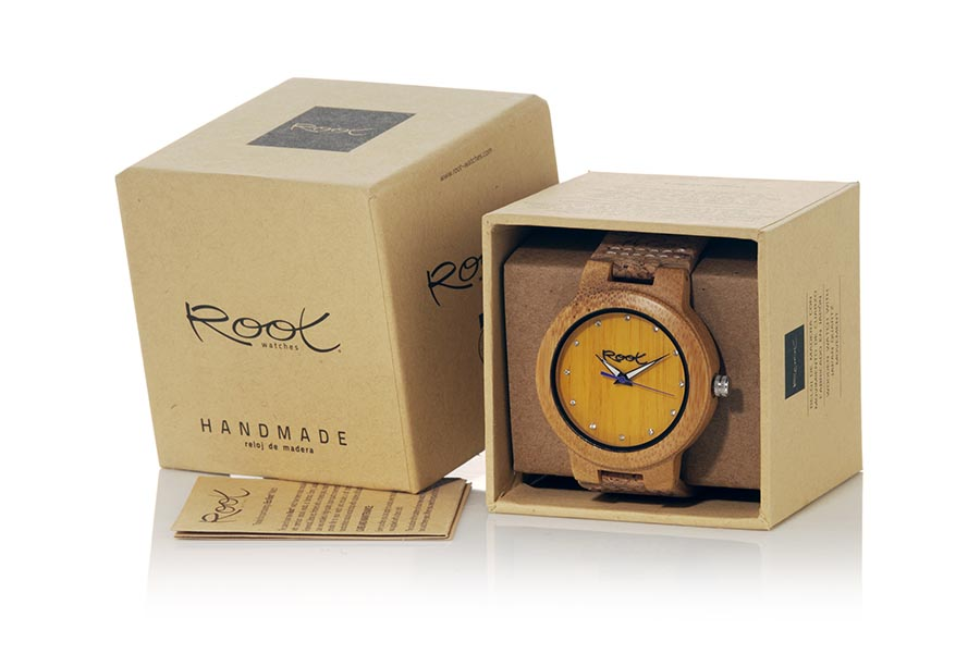 Reloj de Madera Bambú DANA YELLOW | Root® Watches