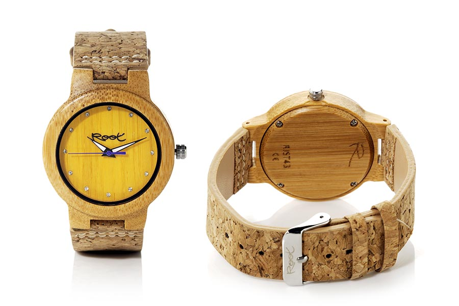 Reloj de Madera Bambú DANA YELLOW...  | Root® Watches