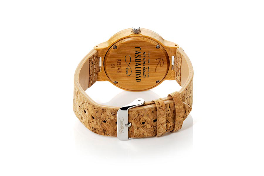Eco Watch made of  Mensaje Personalizado en tapa Trasera de Reloj | Root® Watches