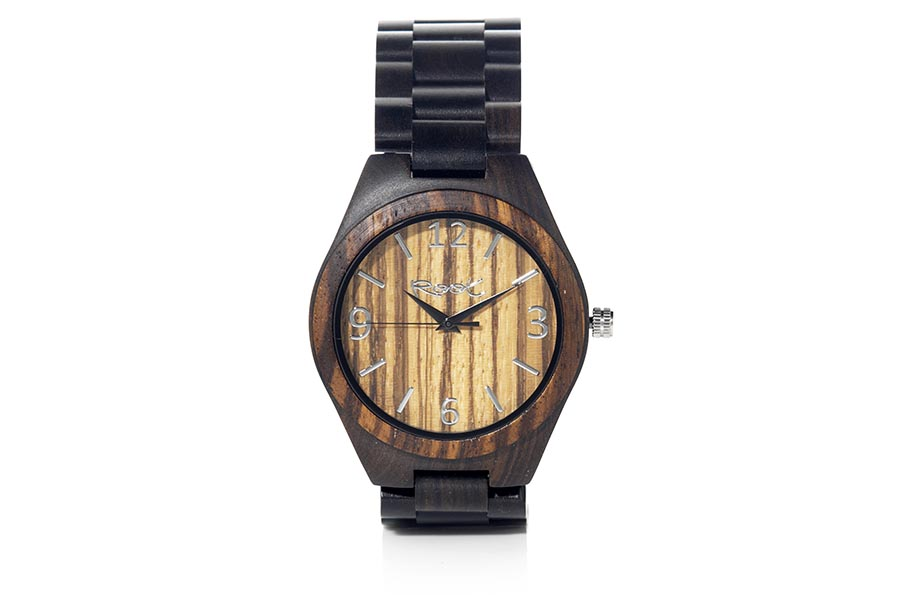 Reloj de Madera Ébano KANGRY ZEBRA...  | Root® Watches