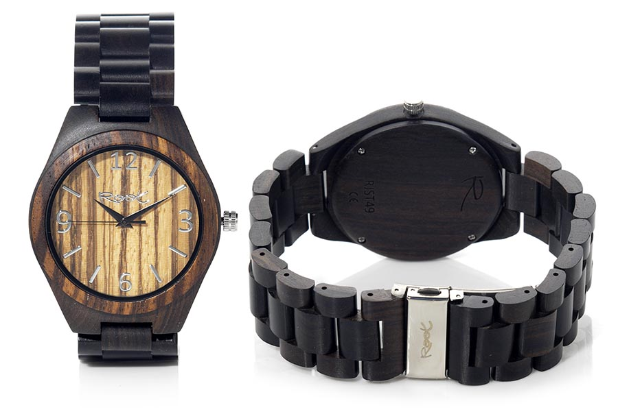 Reloj de Madera Ébano KANGRY ZEBRA | Root® Watches