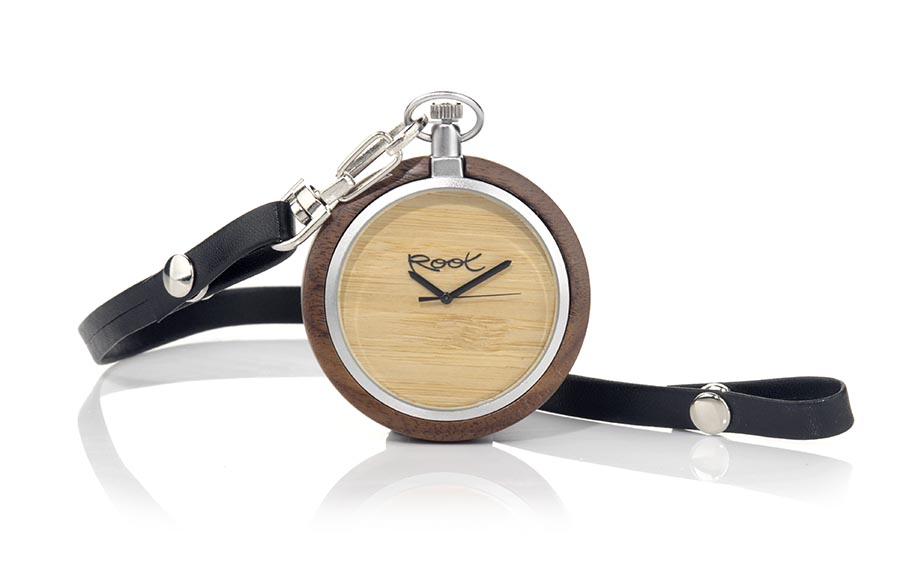 Eco Watch made of Walnut modelo POCKET.  | Root® Watches
