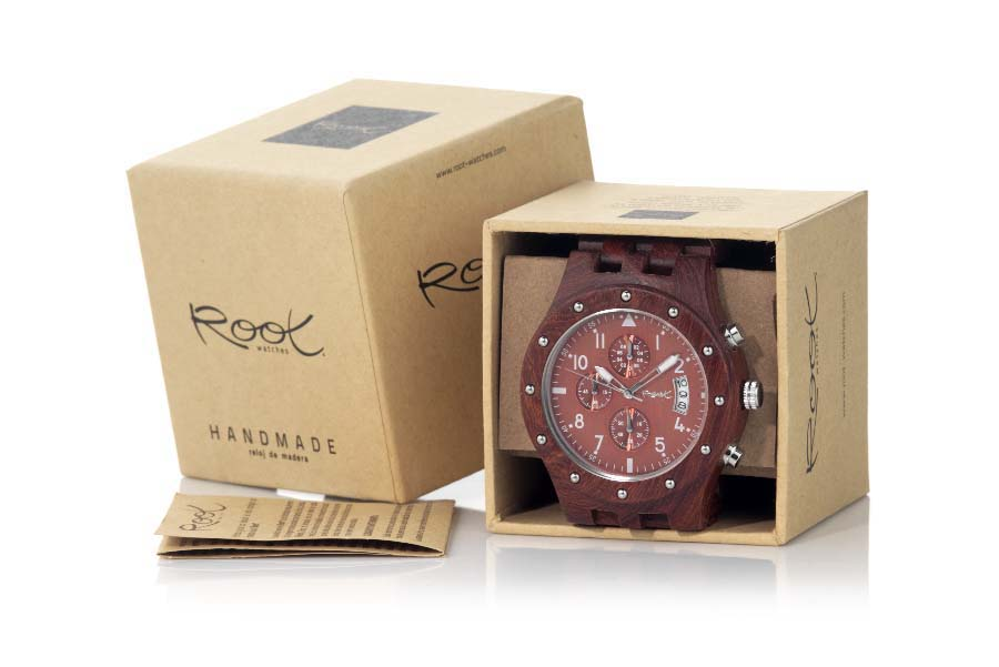 Eco Watch made of Sandalwood modelo CHRONO SUNRISE | Root® Watches