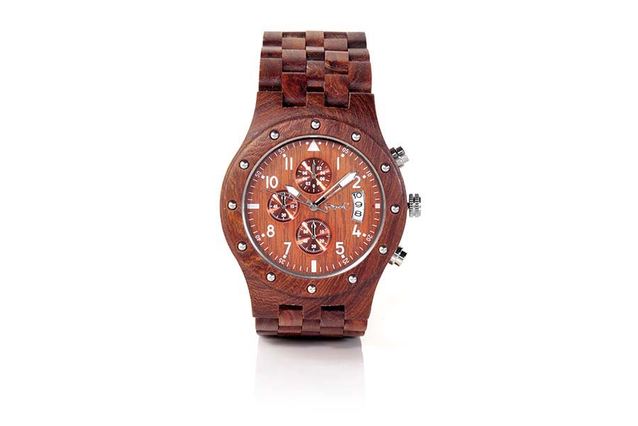 Eco Watch made of Sandalwood modelo CHRONO SUNRISE.  | Root® Watches