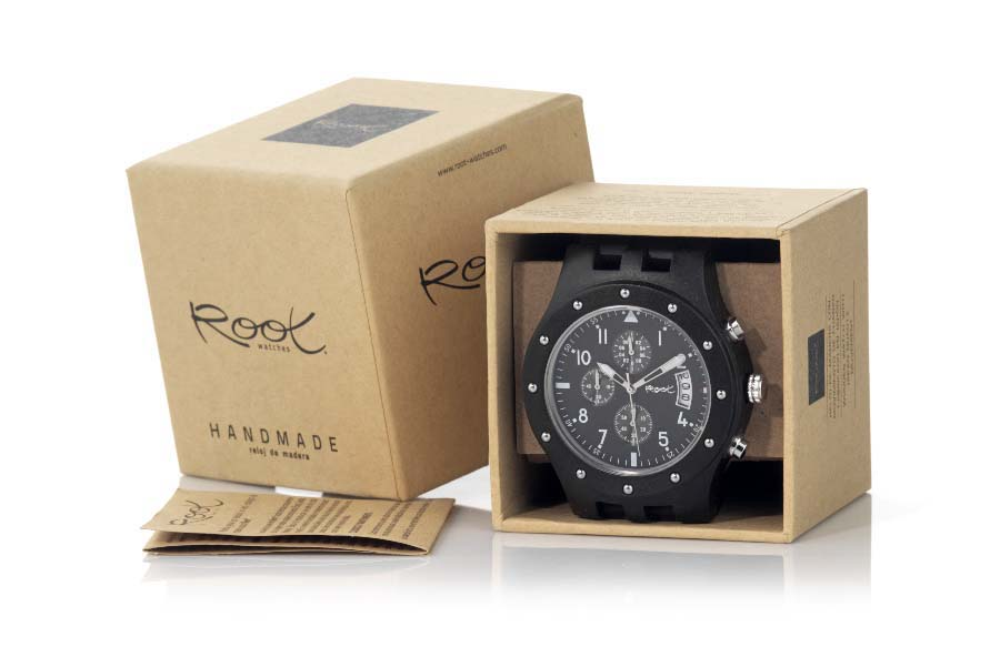 Eco Watch made of Sandalwood CHRONO NIGHT...  | Root® Watches
